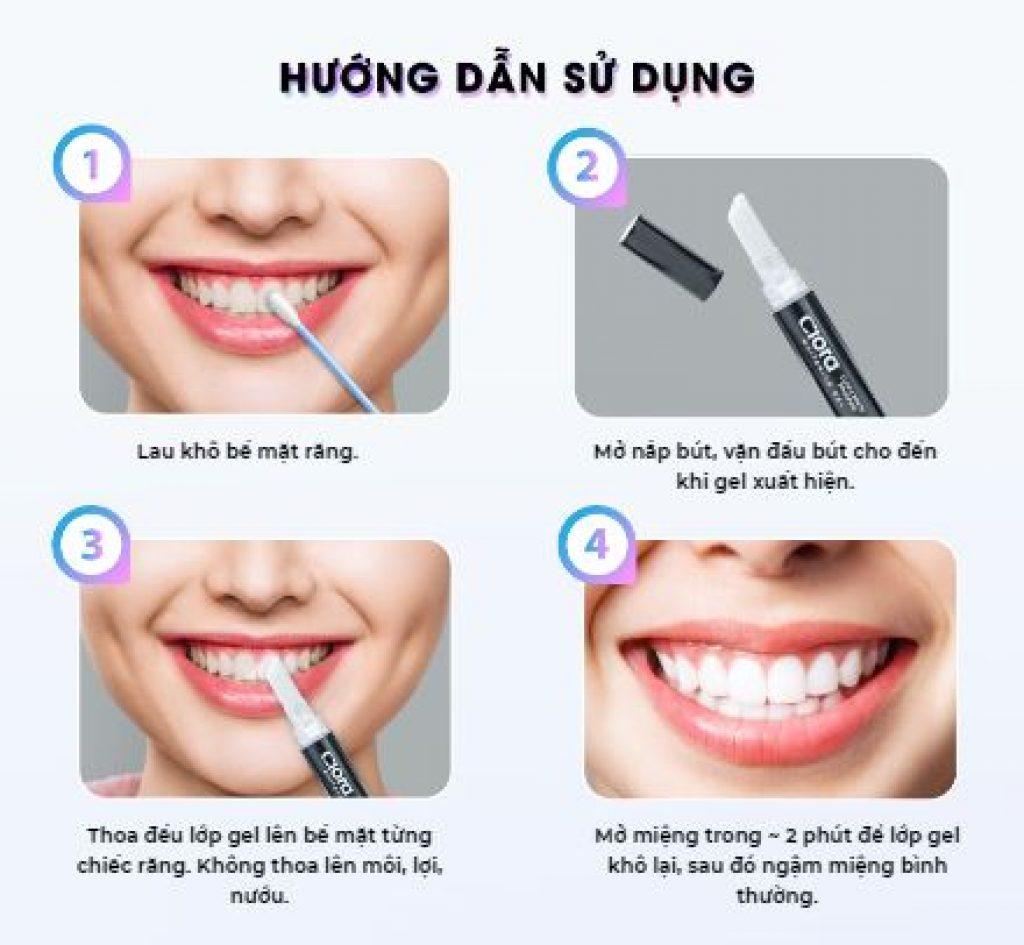 Cách sử dụng bút tẩy trắng răng