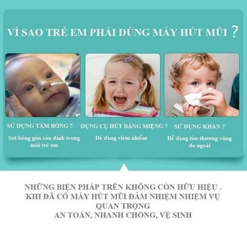 vì sao trẻ cần sử dụng máy hút mũi