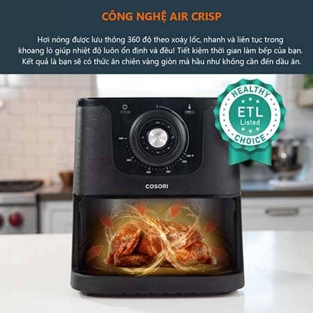 Công nghệ chiên nướng Air Crisp