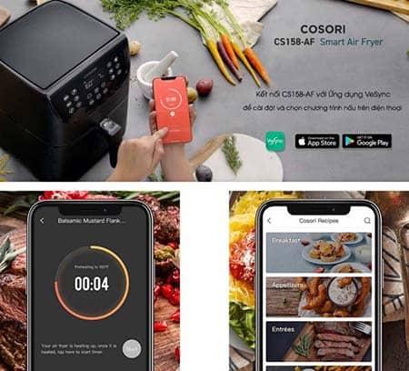 Kết nối với smart phone qua ứng dụng VeSync.