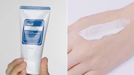 Sản phẩm có kết cấu dạng kem màu trắng, thẩm thấu nhanh nhàng vào da, không tạo cảm giác bết dính.