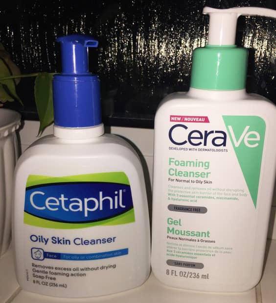So sánh sữa rửa mặt Cetaphil và Cerave