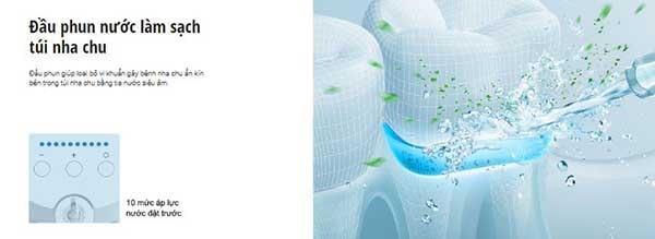 Máy tăm nước EW1611 Dùng tích của khoang chứa nước lớn đạt 600ml
