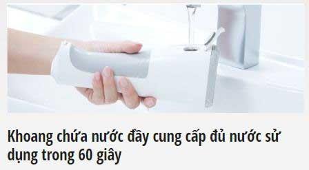 Đầu tiên các bạn nạp nước vào máy