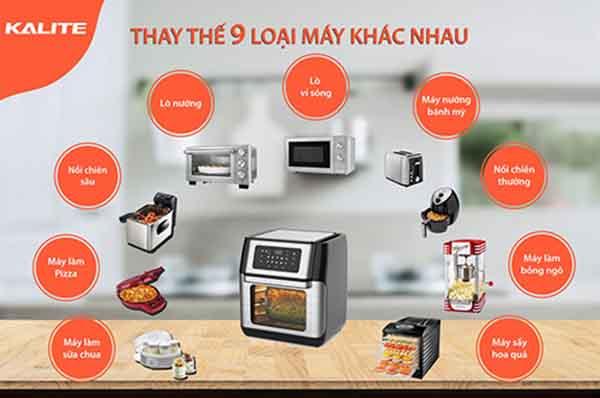 Kaltite Q10 có thể thay thế nhiều vật dụng khác trong nhà bếp
