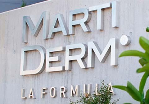 Sau hơn 60 năm nghiên cứu và phát triển đến nay , hãng MartiDerm được biết đến là nhà sản xuất hóa mỹ phẩm cung cấp hàng loạt giải pháp chống lão hoá cho các bác sĩ da liễu