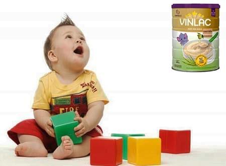 Bột ăn dặm Vilac giúp Tăng cường trí thông minh cho bé,tăng cường các hoạt động thể chất