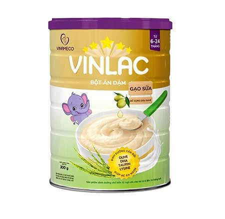 Bột ăn dặm Vinlac gạo sữa - Vị ngọt
