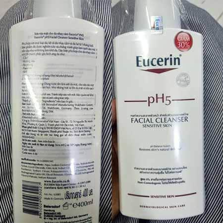 Sữa rửa mặt eucerin PH5 giá bao nhiêu. Mua hàng chính hãng ở đâu ?.