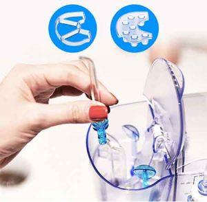 h2ofloss hf9 Thiết kế nắp bảo quan đầu tăm nước tiện dụng ngay trên thân máy