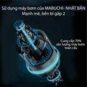 Động cơ bơm nước trên chiếc H2ofloss hf2 sử dụng hàng nhập khẩu hãng Mauchi Nhật Bản