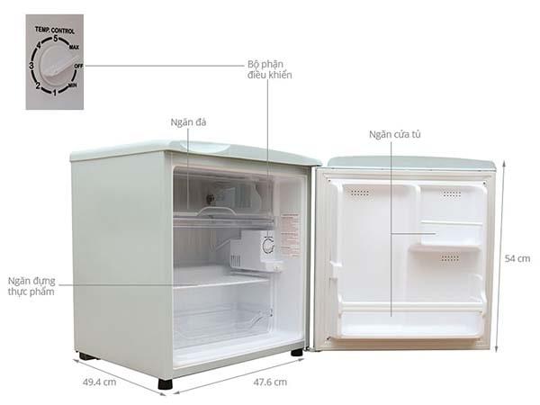 Cấu tạo của tủ lạnh mini