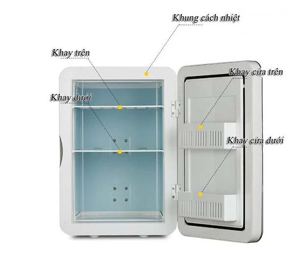 Cấu tạo tủ lạnh Tủ lạnh mini Huyndai 20 lít