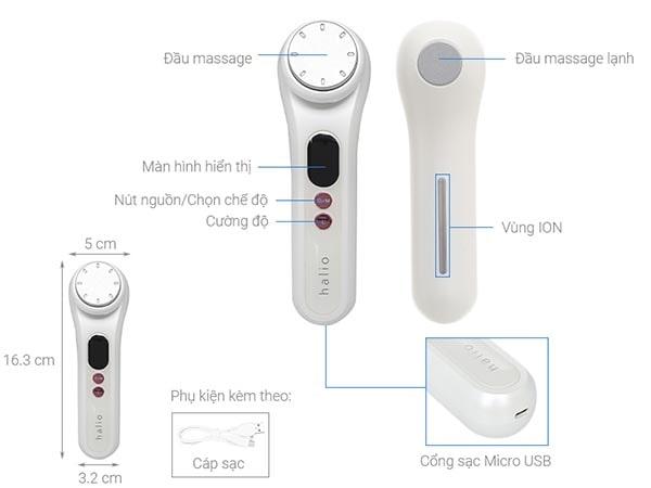 các bộ phận cấu tạo của máy massage mặt