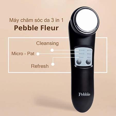 Máy massage mặt pebble fleur