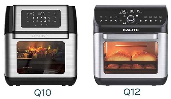 So sánh nồi chiên không dầu Kalite Q10 và Q12
